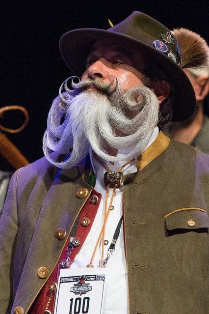 Competitor Norbert Topf attends the 2017 Remington Beard Boss World Beard & Moustache Championships held at the Long Center for the Performing Arts on September 3, 2017 in Austin, Texas. (Photo by Suzanne Cordeiro/AFP Photo)