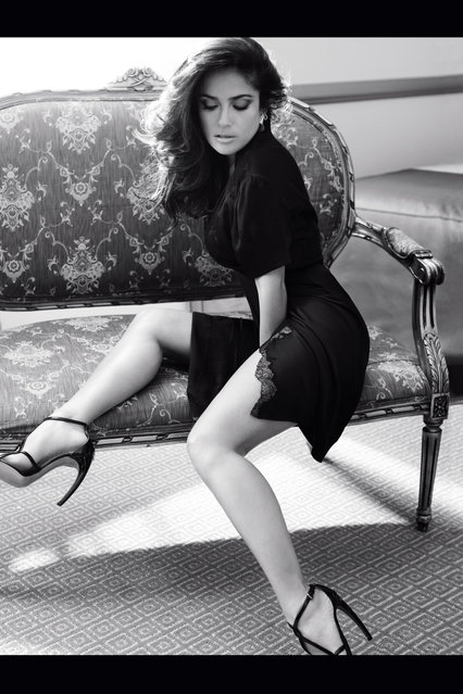 Salma Hayek For Vogue Germany September 2012 by Alexi Lubomirski