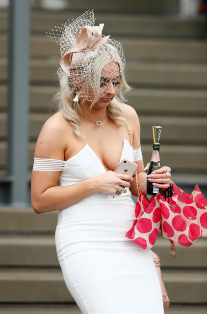 Racegoer during Ladies Day at the Grand National Festival at Aintree Racecourse on April 13, 2018 in Liverpool, England. (Photo by Jason Cairnduff/Reuters/Action Images)