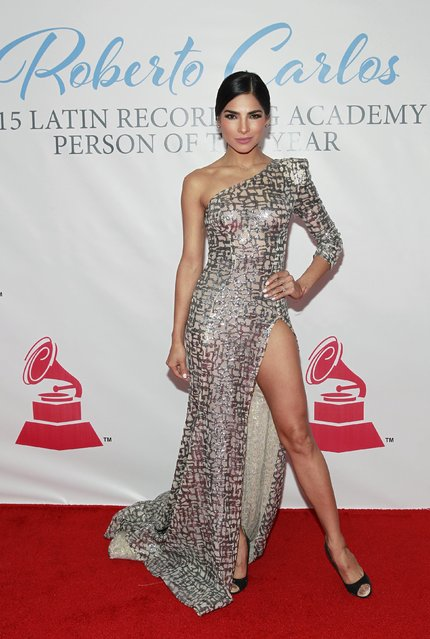 Alejandra Espinoza arrives at the 2015 Latin Recording Academy Person of the Year Tribute to Roberto Carlos in Las Vegas, Nevada November 18, 2015. (Photo by Steve Marcus/Reuters)