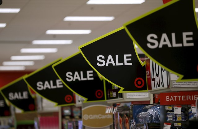 Advertising for Black Friday sales are on display at a Target store in Chicago, Illinois, United States, November 27, 2015. (Photo by Jim Young/Reuters)