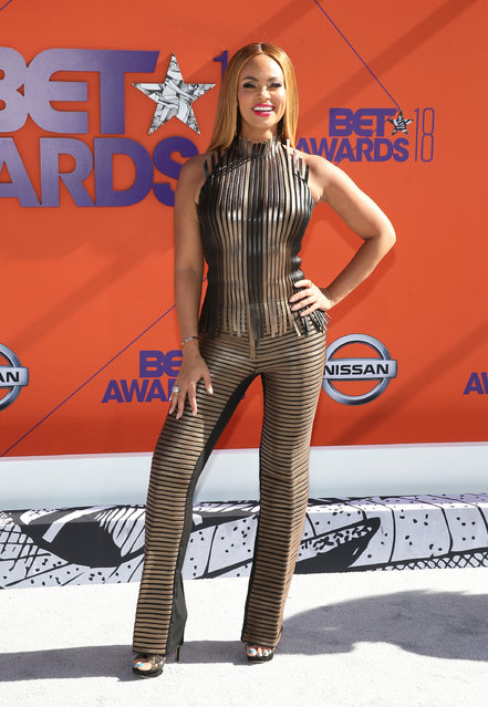 Gizelle Bryant is seen during the 2018 BET Awards at Microsoft Theater on June 24, 2018 in Los Angeles, California. (Photo by Bennett Raglin/Getty Images for BET)
