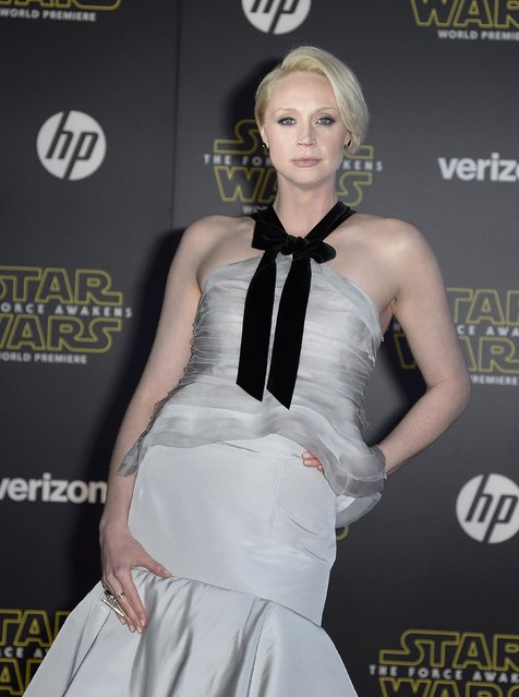 "Actress Gwendoline Christie arrives at the premiere of ""Star Wars: The Force Awakens"" in Hollywood, California December 14, 2015. (Photo by Kevork Djansezian/Reuters)"