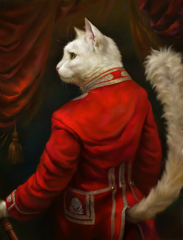 The Aristocratic Cats by Artist Eldar Zakirov