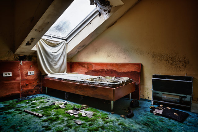 Inside a hotel in Slovenia. (Photo by Thomas Windisch/Caters News)