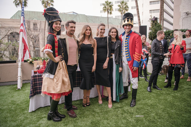 (L-R) James Franco, Sofia Vergara, Elizabeth Chambers-Hammer, and Isabel Pakzad at the Brooks Brothers Annual Holiday Celebration To Benefit St. Jude at the Beverly Wilshire Four Seasons Hotel on December 9, 2018 in Beverly Hills, California. (Photo by Morgan Lieberman/Getty Images)