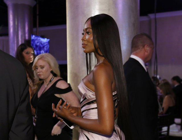 Model Naomi Campbell arrives at a pre-show cocktail party at the 74th Annual Golden Globe Awards in Beverly Hills, California, U.S., January 8, 2017. (Photo by Mario Anzuoni/Reuters)
