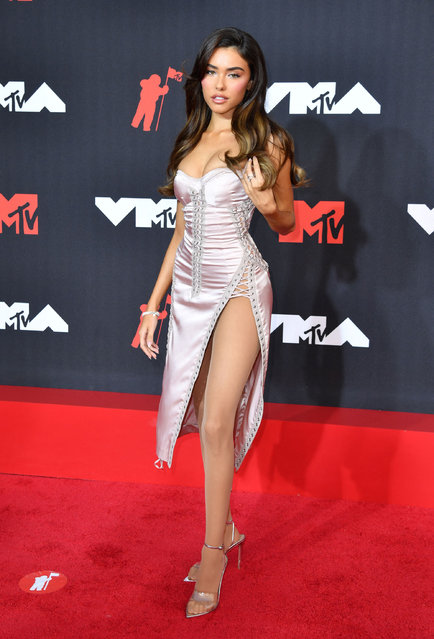 Push Performance of the Year nominee, US singer Madison Beer arrives for the 2021 MTV Video Music Awards at Barclays Center in Brooklyn, New York, September 12, 2021. (Photo by Angela Weiss/AFP Photo)