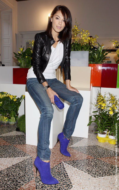 Giorgia Surino attends the Giuseppe Zanotti Design Spring/Summer 2012 collection press preview as part Milan Womenswear Fashion Week