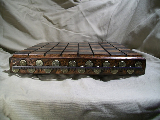 Custom Made Steampunk Bullet Shell Chess