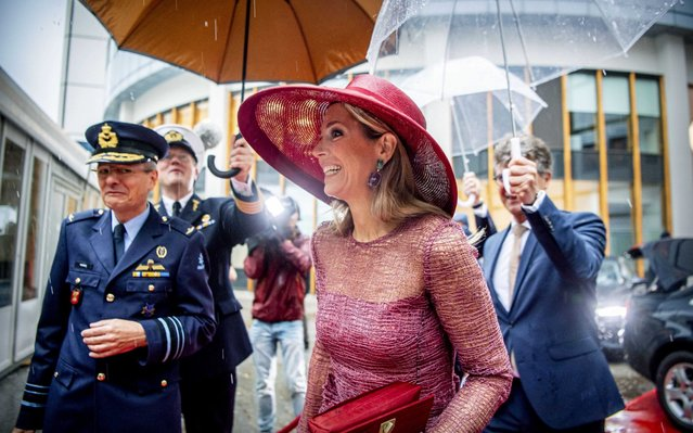 Queen Maxima of The Netherlands opens the renovated Military Hospital on June 19, 2019 in Utrecht, Netherlands. (Photo by Robin Utrecht/Shutterstock)