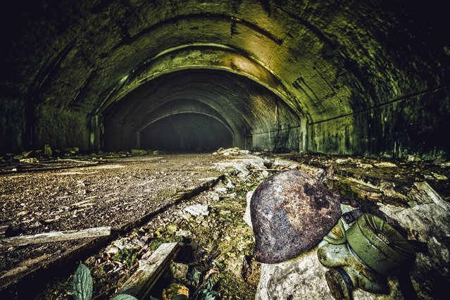 The underground tunnels once housed entire squadrons of aircraft. (Photo by Thomas Windisch/Exclusivepix Media)