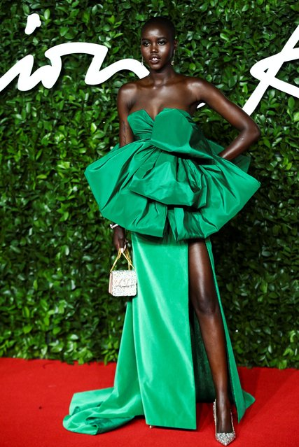 Model Adut Akech arrives at The Fashion Awards 2019 held at Royal Albert Hall on December 02, 2019 in London, England. (Photo by Lisi Niesner/Reuters)