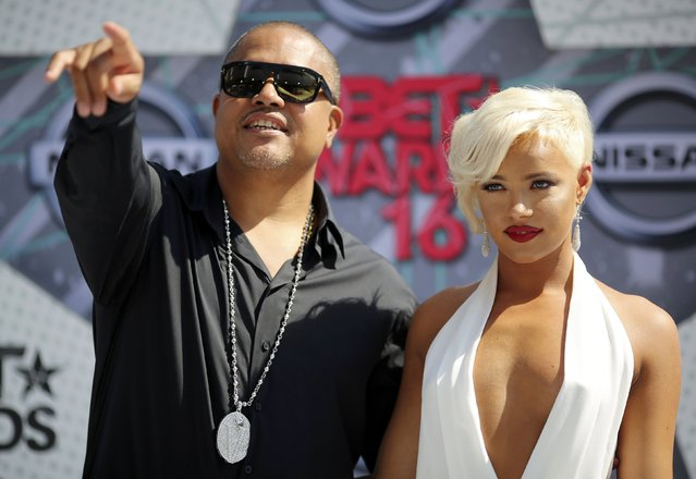 Rapper Irv Gotti and model Ashley Martelle arrive at the 2016 BET Awards in Los Angeles, California U.S. June 26, 2016. (Photo by David McNew/Reuters)