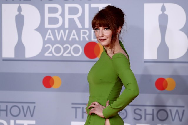 Nicola Roberts poses as she arrives for the Brit Awards at the O2 Arena in London, Britain, February 18, 2020. (Photo by Simon Dawson/Reuters)