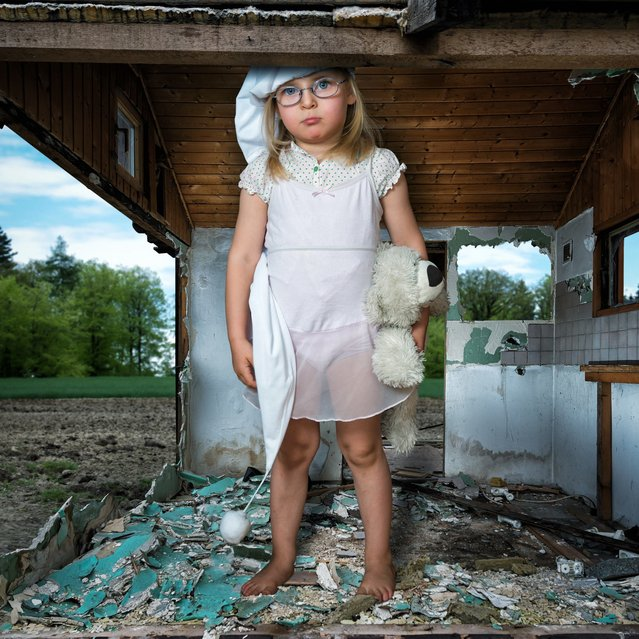 """The big girl in the small hut"". (John Wilhelm)"