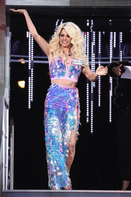 Drag queen Courtney Act (real name Shane Jenek) attends the Celebrity Big Brother male contestants launch night at Elstree Studios on January 5, 2018 in Borehamwood, England. (Photo by Mike Marsland/WireImage)