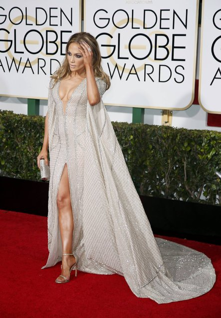 Actress Jennifer Lopez arrives at the 72nd Golden Globe Awards in Beverly Hills, California January 11, 2015. (Photo by Danny Moloshok/Reuters)