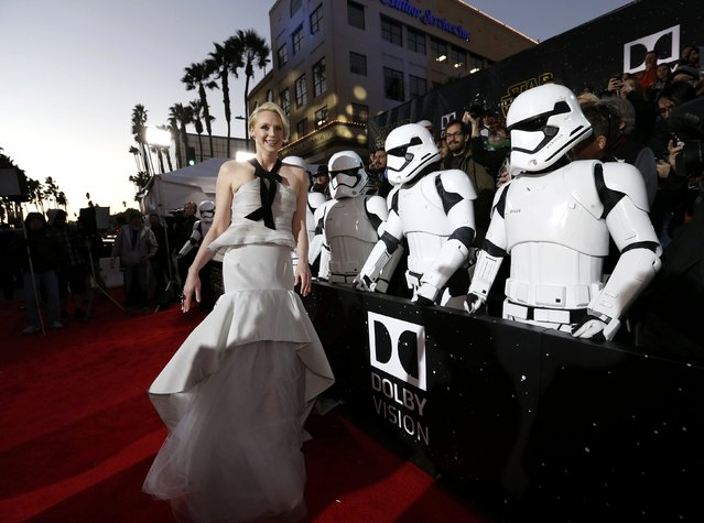 "Actress Gwendoline Christie arrives at the premiere of ""Star Wars: The Force Awakens"" in Hollywood, California December 14, 2015. (Photo by Mario Anzuoni/Reuters)"