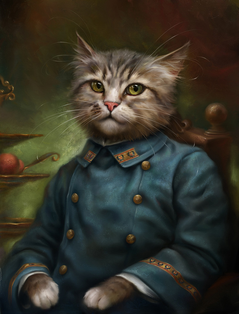The Aristocratic Cats by Artist Eldar Zakirov