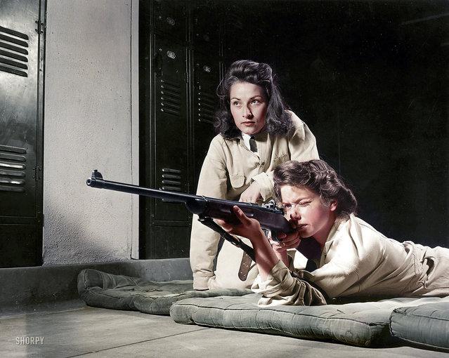 Girls Marksmanship Class, 1942.