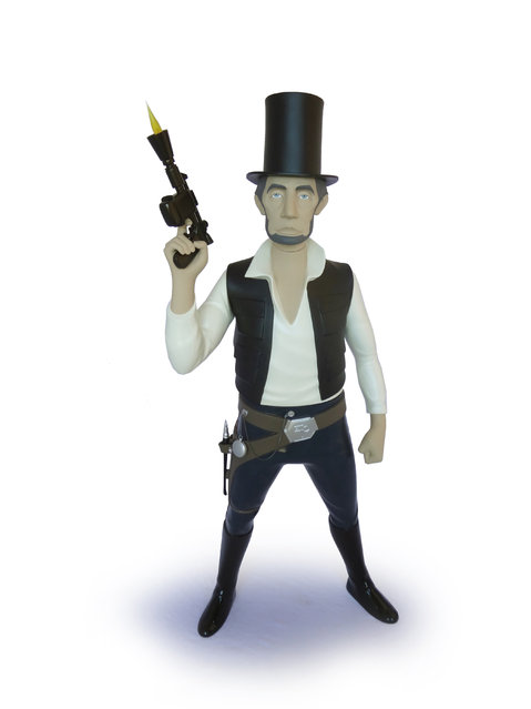 Abe Lincoln as Han Solo. (Photo by Mike Leavitt/Rex USA)
