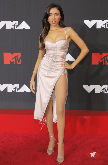 Madison Beer arrives for the 2021 MTV Video Music Awards at Barclays Center in Brooklyn, New York, September 12, 2021. (Photo by Andrew Kelly/Reuters)