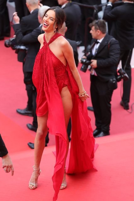"Alessandra Ambrosio attends the screening of ""Les Miserables"" during the 72nd annual Cannes Film Festival on May 15, 2019 in Cannes, France. (Photo by Andreas Rentz/Getty Images)"