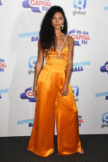 Vick Hope attends the Capital FM Summertime Ball at Wembley Stadium on June 08, 2019 in London, England. (Photo by James Veysey/Shutterstock)