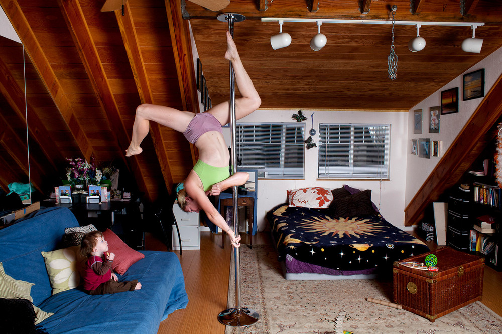"""Pole Dancing at Home"" by Photographer Tom Sanders"