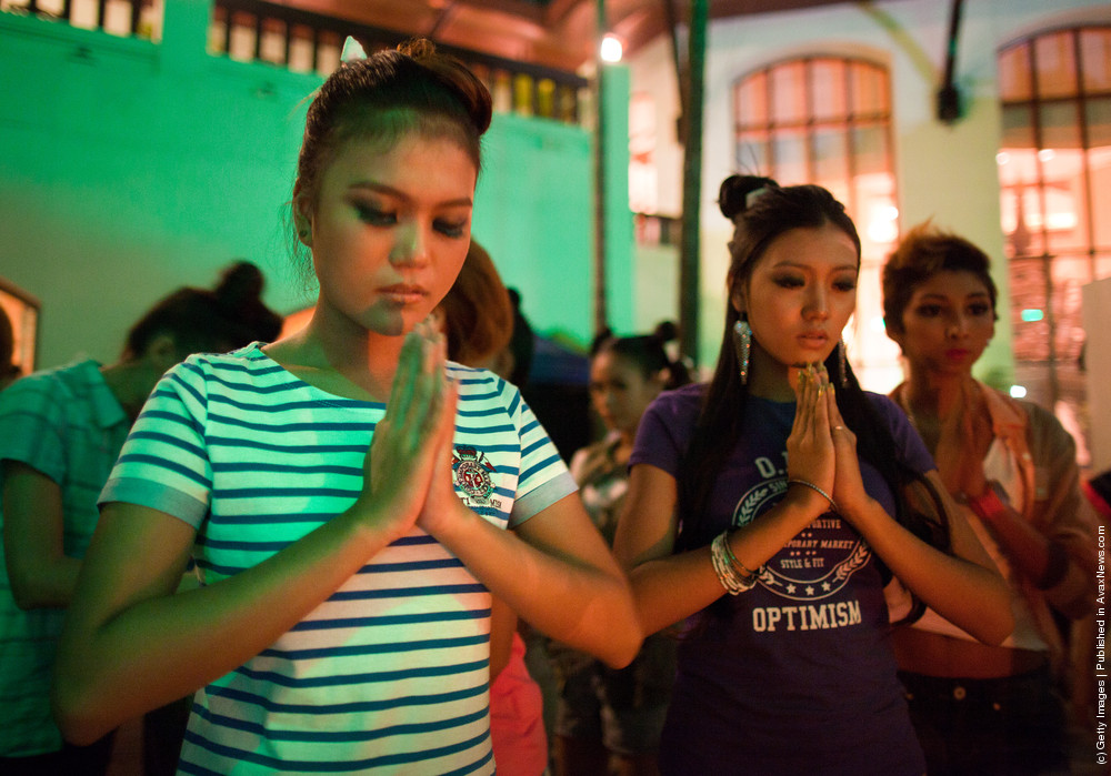 Behind The Scenes At A Myanmar Fashion Show