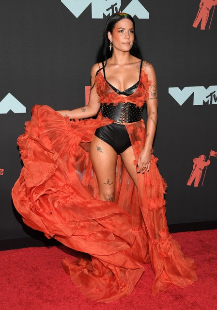 Halsey attends the 2019 MTV Video Music Awards at Prudential Center on August 26, 2019 in Newark, New Jersey. (Photo by Andrew H. Walker/Shutterstock)