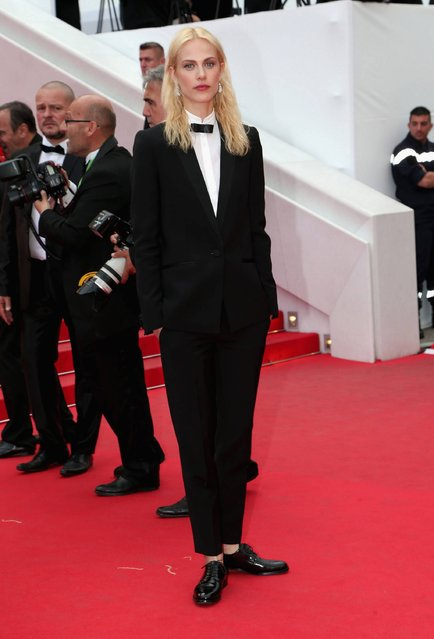 """Aymeline Valade attends the """"Saint Laurent"""" premiere during the 67th Annual Cannes Film Festival on May 17, 2014 in Cannes, France. (Photo by Gisela Schober/Getty Images)"""
