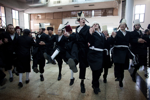 Ultra Orthodox Jews celebrate the Jewish holiday of Purim in Benei Brak, Israel