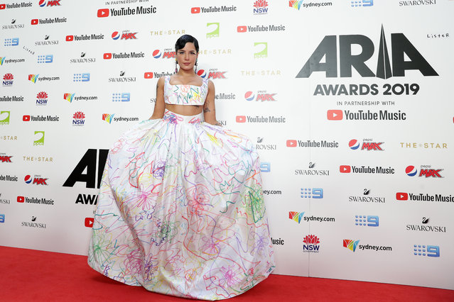 Halsey arrives for the 33rd Annual ARIA Awards 2019 at The Star on November 27, 2019 in Sydney, Australia. (Photo by Mark Metcalfe/Getty Images)