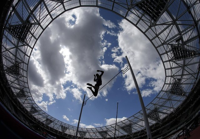 Athletics, IAAF Diamond League 2015, Sainsbury's Anniversary Games, Queen Elizabeth Olympic Park, London, England, on July 25, 2015: Poland's Piotr Lisek in action during the men's pole vault final. (Photo by Phil Noble/Reuters)