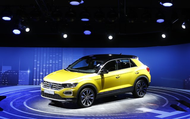 A VW T-Roc is pictured during opening of the Frankfurt Motor Show (IAA) in Frankfurt, Germany September 11, 2017. (Photo by Kai Pfaffenbach/Reuters)