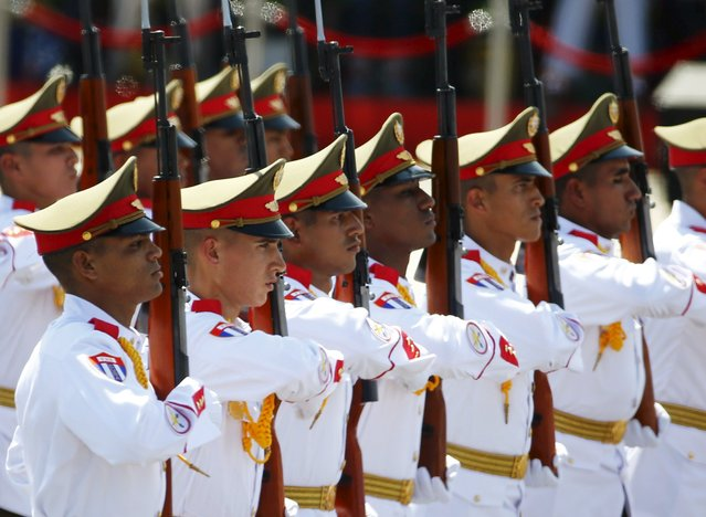 Cuban soldiers march during the military parade marking the 70th anniversary of the end of World War Two, in Beijing, China, September 3, 2015. (Photo by Damir Sagolj/Reuters)
