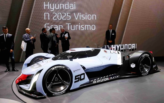 The Hyundai N50 is presented during the media day at the Frankfurt Motor Show (IAA) in Frankfurt, Germany September 15, 2015. (Photo by Kai Pfaffenbach/Reuters)