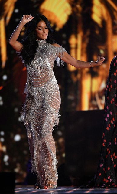 """Nicole Scherzinger at UK """"The X Factor"""" TV show, Series 14, Episode 27 in London, England on December 2, 2017. (Photo by Dymond/Thames/Syco/Rex Features/Shutterstock)"""