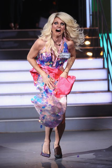 Courtney Act attends the Celebrity Big Brother male contestants launch night at Elstree Studios on January 5, 2018 in Borehamwood, England. (Photo by Mike Marsland/WireImage)
