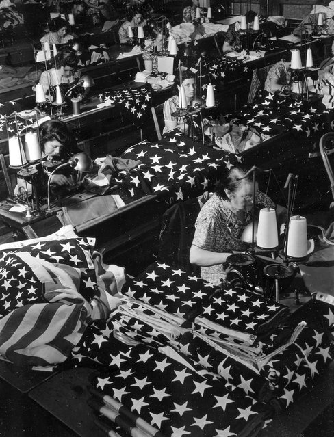 """Flag Making"". Brooklyn, New York, July 24, 1940. (Photo by Margaret Bourke-White)"