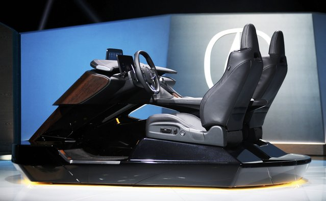 Acura introduces its new car cockpit design at the 2016 Los Angeles Auto Show in Los Angeles, California, U.S November 16, 2016. (Photo by Mike Blake/Reuters)