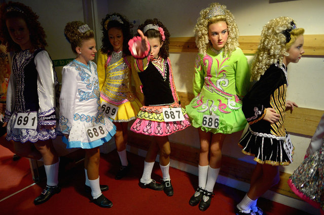 Dancers attend the 29th All Scotland Irish Dance Championship on February 22, 2013 in Glasgow, Scotland. As many 2,000 competitors are taking part in one of the world's largest Irish dancing competitions with dancers coming from as far afield as North America, Russia, Australia and South Africa. (Photo by Jeff J. Mitchell/Getty Images)