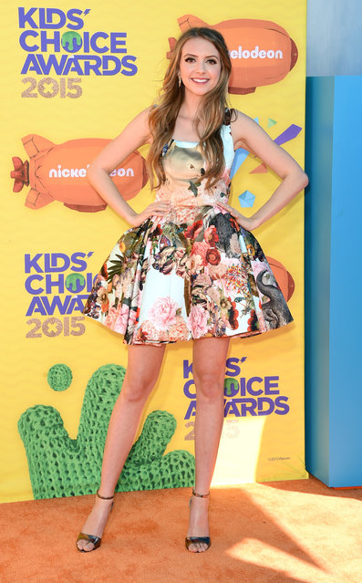 Singer Olivia Somerlyn attends Nickelodeon's 28th annual Kids' Choice Awards held at The Forum on March 28, 2015, in Inglewood, California. (Photo by Jason Merritt/Getty Images)