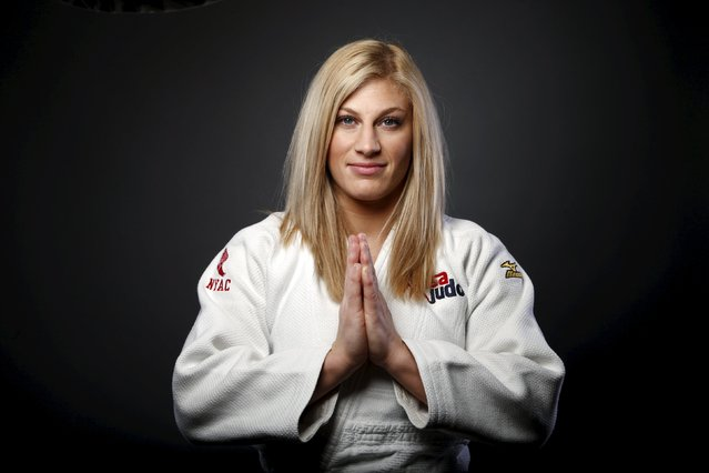 Judo competitor Kayla Harrison poses for a portrait at the U.S. Olympic Committee Media Summit in Beverly Hills, Los Angeles, California March 8, 2016. (Photo by Lucy Nicholson/Reuters)