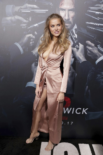"""Tanya Mityushina seen at Summit Entertainment, a Lionsgate Company, Los Angeles Premiere of """"John Wick Chapter 2"""" at ArcLight Hollywood on Monday, January 30, 2017, in Los Angeles. (Photo by Eric Charbonneau/Invision for Lionsgate/AP Images)"""