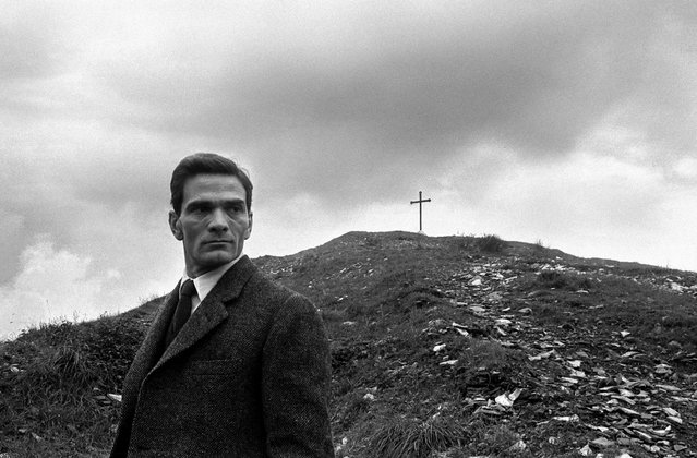 """The actor, poet and soon-to-be film director Pier Paolo Pasolini at Rome's """"monte dei cocci"""" – an artificial mound made of ancient pottery fragments – in 1960. (Photo by Paolo Di Paolo/National Museum of 21st Century Arts)"""