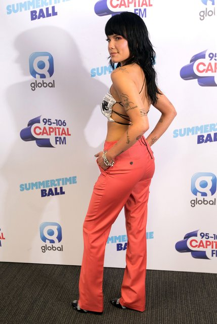 Halsey attends the Capital FM Summertime Ball at Wembley Stadium on June 08, 2019 in London, England. (Photo by PA Wire Press Association)
