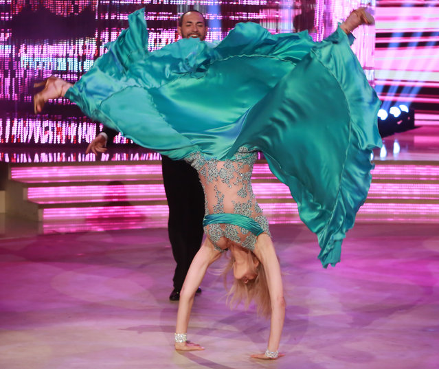 """Marla Maples Trump, host in the Italian TV in the trasmission """"Dancing With The Stars"""" in Rome, Italy on April 9, 2017. (Photo by Splash News and Pictures)"""